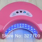 Pink 12W LED Gel Nail Art Lamp Portable Nail Dryer Curing Home / Salon Two Hand One Time