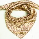 5 PCS Leopard Dots Print Big Square Satin Silk-like Satin Scarf Wrap Kerchief 90*90cm Gift