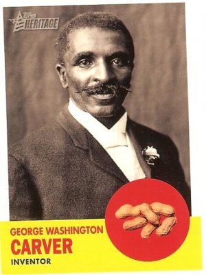 George Washington Carver - Inventor 2009 Topps Heritage Card # 43