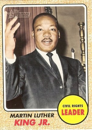 Martin Luther King - Civil Rights Leader 2009 Topps Heritage Card # 51