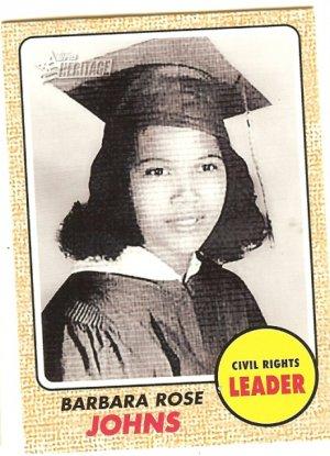 Barbara Rose Johns - Civil Rights Leader 2009 Topps Heritage Card # 55