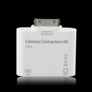 2-in-1 Camera Connection Kit and SD Card Reader for iPad / iPad 2