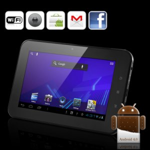 """Android 4.0 Tablet PC """"Xinc"""" - 7 Inch Capacitive Touch Screen, 4GB (Black)"""