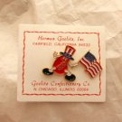 Vintage Jelly Belly with American Flag Patriotic Jelly Bean Pinback Pin