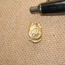 2 Vintage AAA Patrol Service Badge Mini Award Gold and Silver Tone Lapel Pins