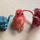 Vintage Jiggly Rubber Uglies Finger Puppets Monster Aliens Hong Kong Mark