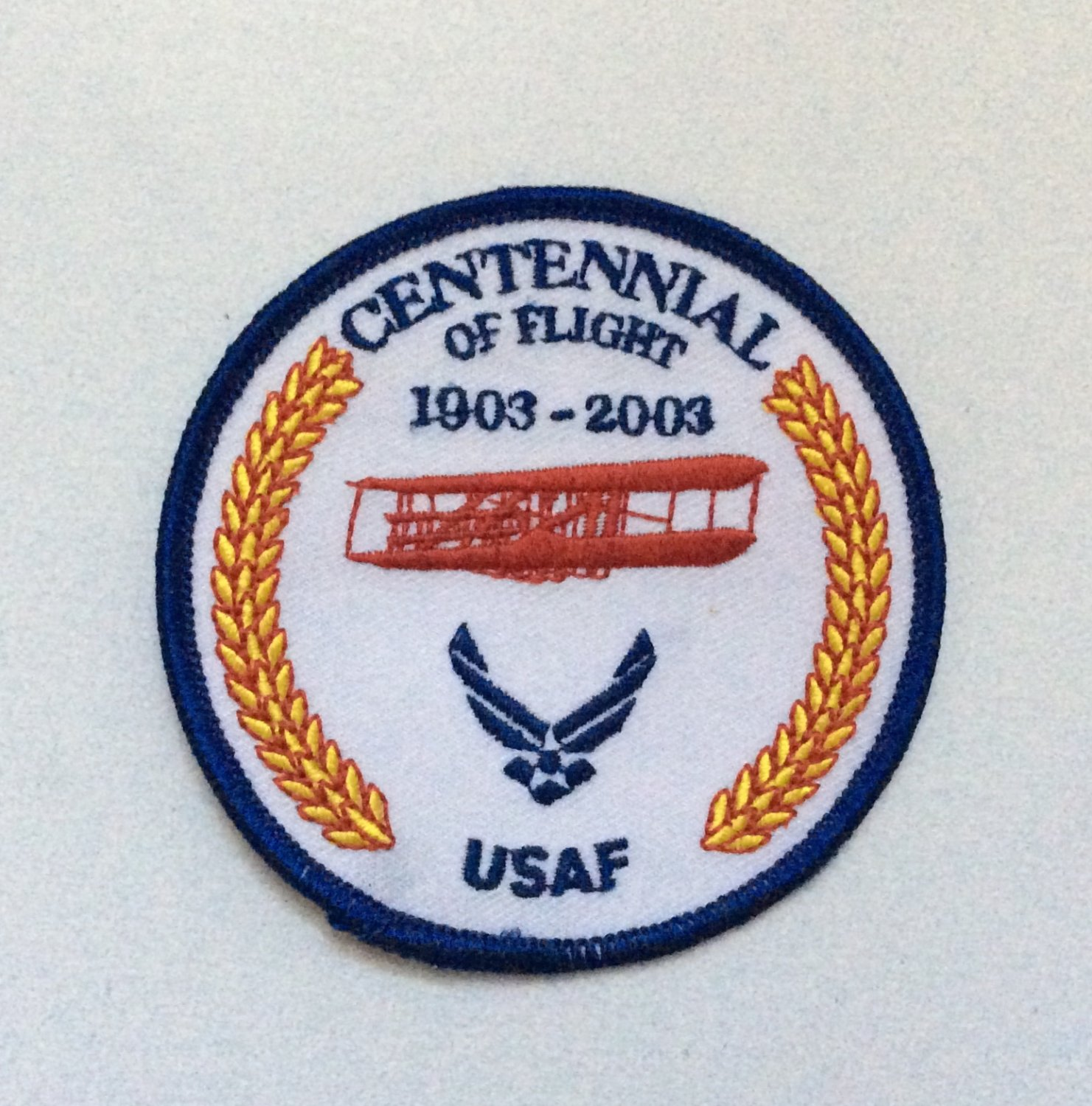 PATCH Badge USAF Centennial Of Flight 1903-2003 Military US Air Force AVGEEK