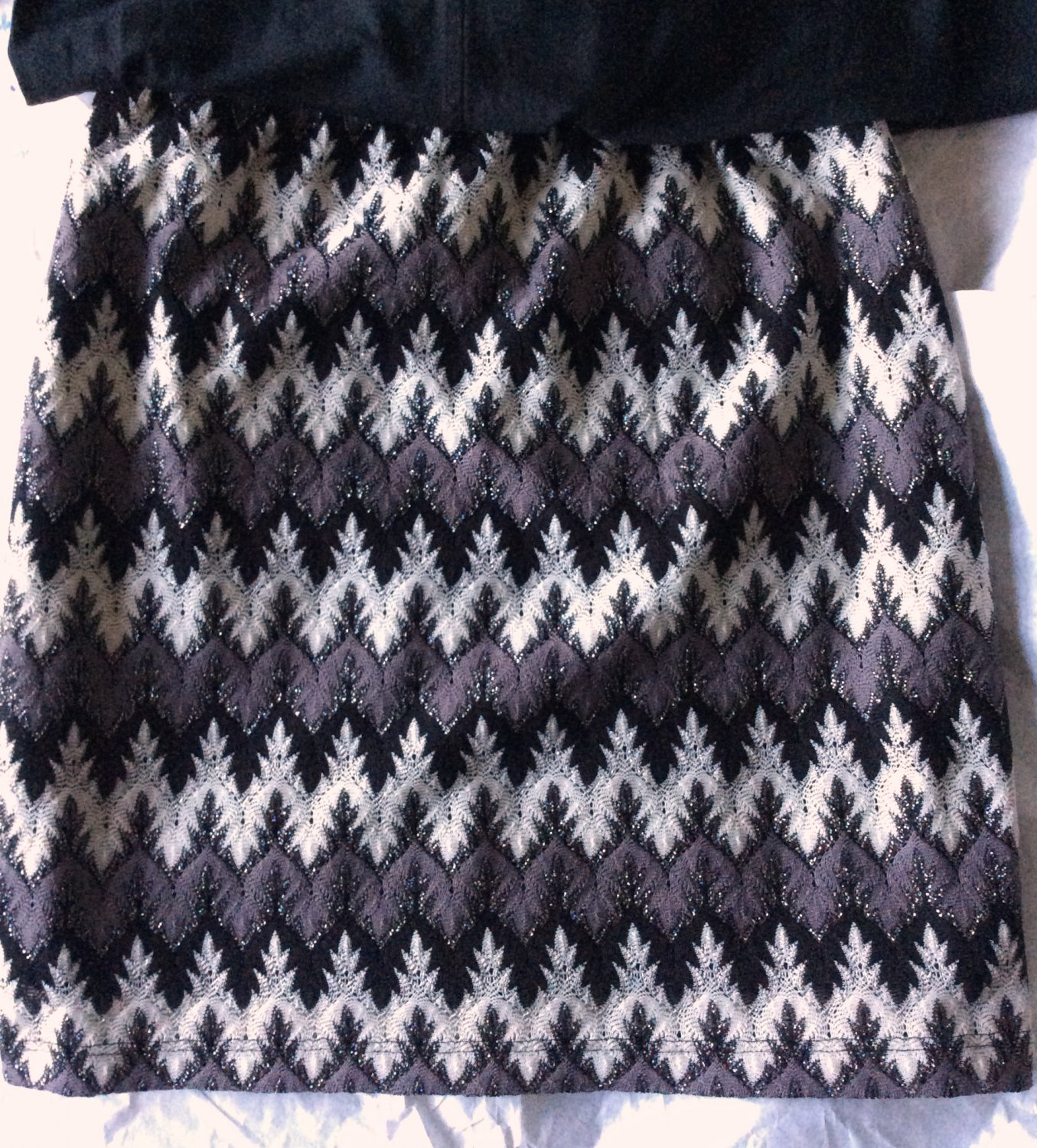 New J. Cooper Crochet Look Mini Skirt Stretch Boutique
