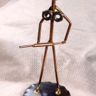 Metalcraft Recycled Art THE NURSE with LARGE SYRINGE Desk Sculpture Vintage Handcrafted