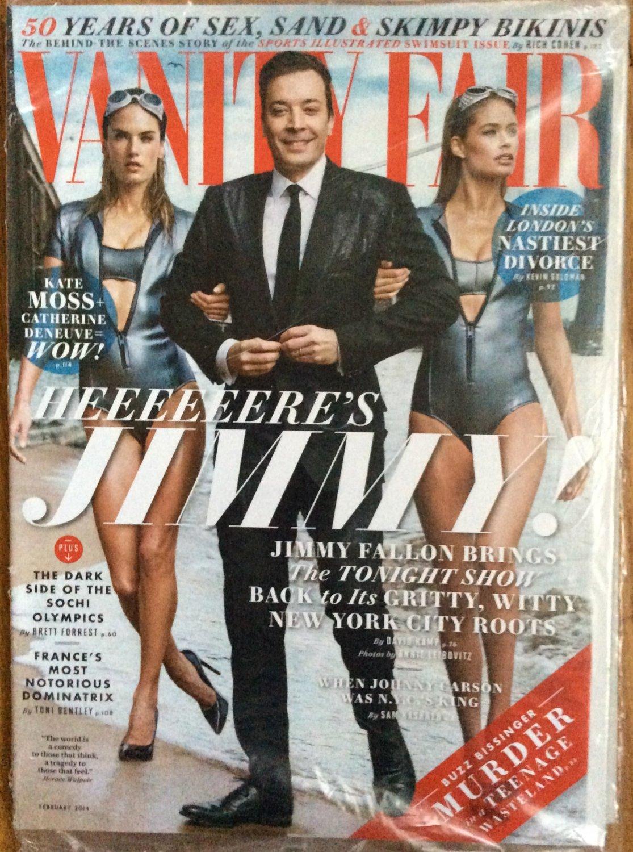 Vanity Fair Magazine February 2014 Jimmy Fallon 50 Yrs Sports Illustrated Swimsuit Issue