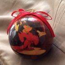 Vintage Disney Ornament Fantasia Mickey Mouse Sorcerers Apprentice Decoupage Christmas Collectible