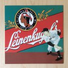 BASEBALL ART Card Prints LEINENKUGELS BEER CHIPPEWA FALLS WISCONSIN Vincent Scilla Sport Painting
