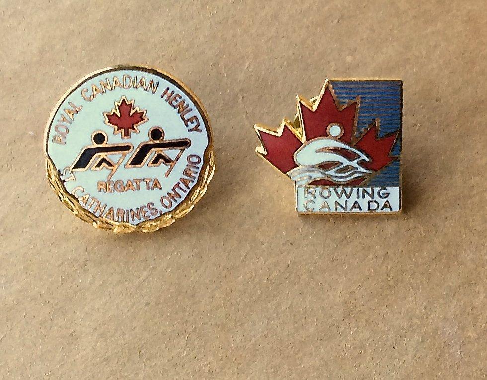 Crew Regatta Lapel Pins Rowing Canada Royal Canadian Henley Crew Team Hat Trading Pinback Lot