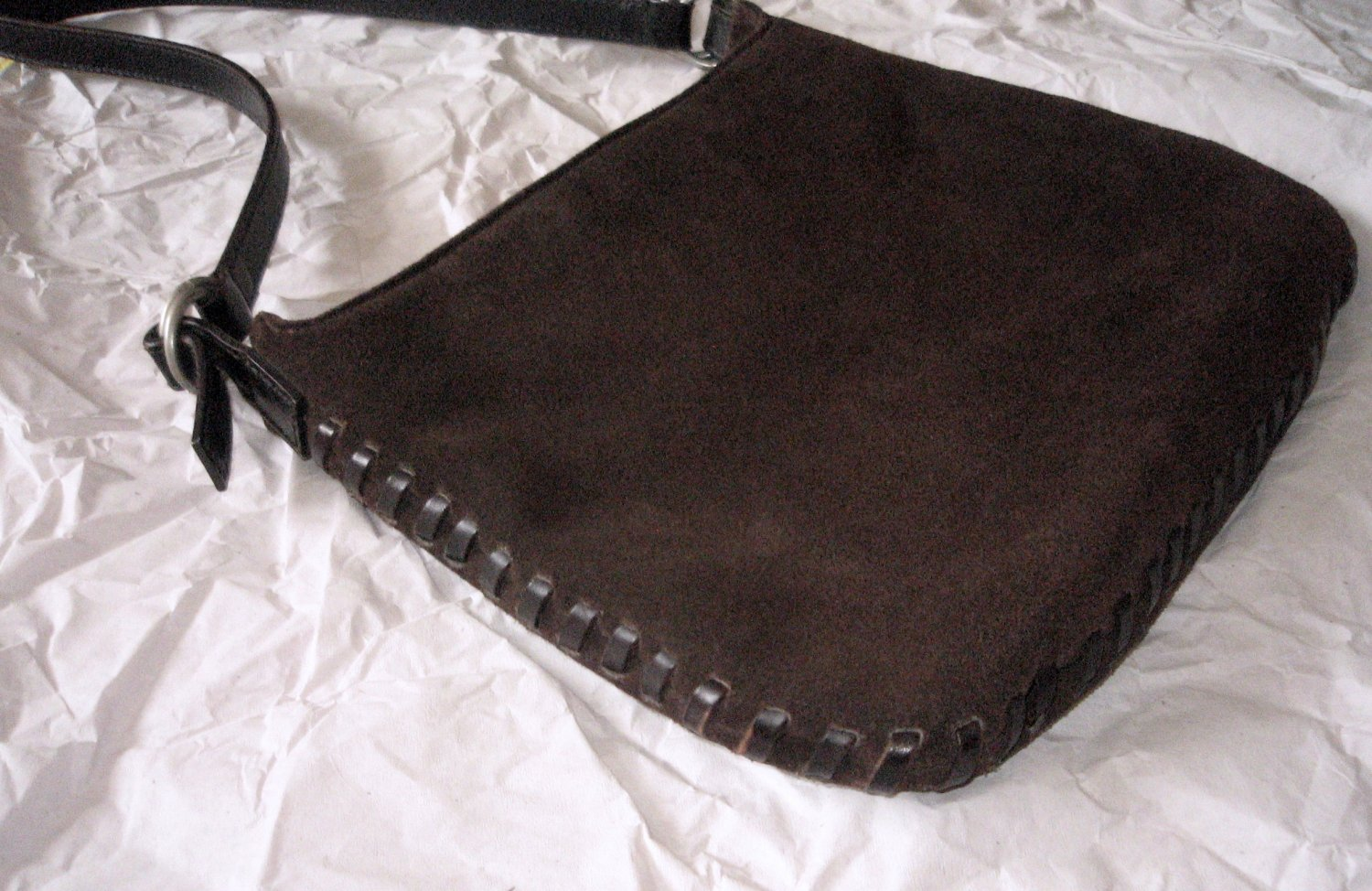 Ralph Lauren Purse Small Hand Bag RALPH Suede Boho Country Equestrian Country