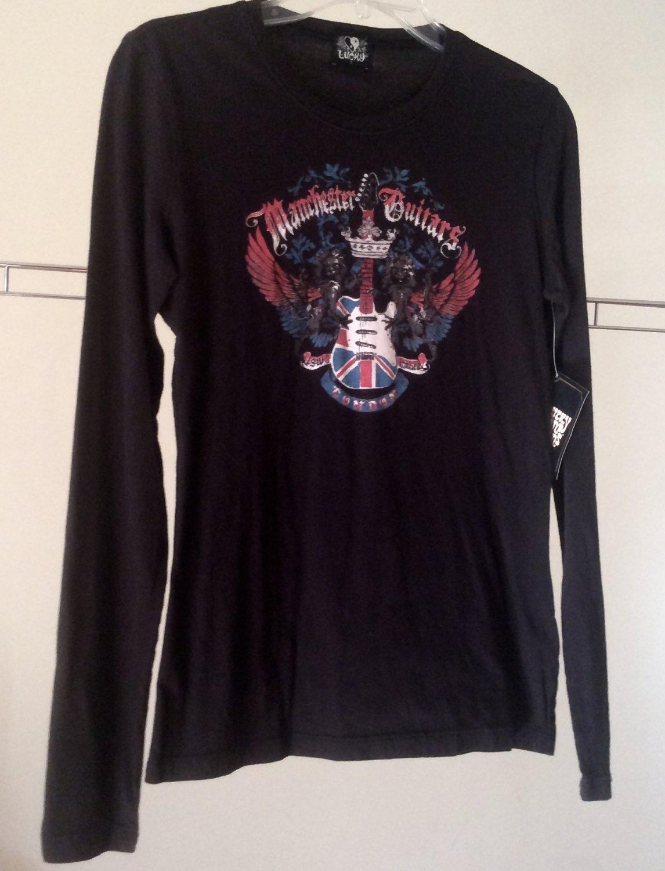 NEW Lucky Brand Top T-Shirt Manchester Guitars London Lions England SW3