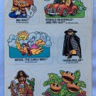 Vintage Stickers McDonalds 2 Sheets 1985