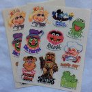 Vintage Stickers 80s The Muppets 2 Sheets Miss Piggy Fozzie Robin Sweetums Gonzo Swedish Chef