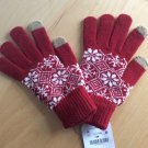 NEW ZARA Tech Tip Unisex Touchscreen Gloves Fair Isle Nordic Snowflake Sweater Style Knit