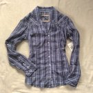 NEW GUESS Blouse Fitted Western Style Rodeo Top