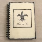 NEW Fleur De Lis Medieval Styled Hard Cover Tri Coastal Designs Blank Book Journal