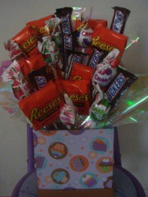 Cupcake Candy Bouquet