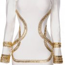 Sass white crystal embellished bandage bodycon dress