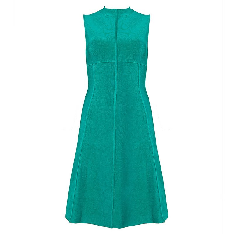 Cloverl LORETTA Bandage Dress--Two colors: Green & Red