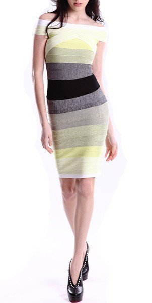 Cloverl Terri Gradient Bandage Dress--Free global shipping