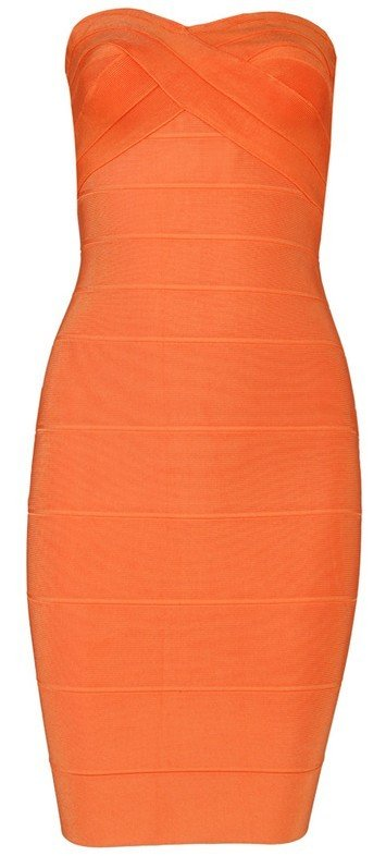 Cloverl Leyla Strapless Bandage Dress 4 colors Free Global Shipping