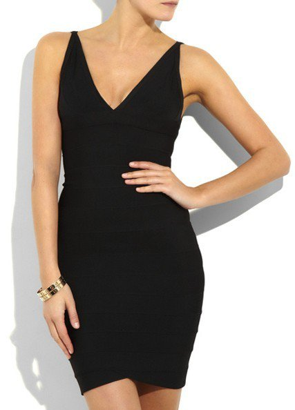 Cloverl Kimberly Deep V Bandage Dress Free Global Shipping