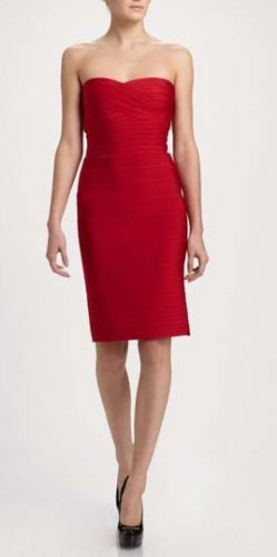 Cloverl Alena Classic Strapless Bandage Dress 5colors  Free Global Shipping