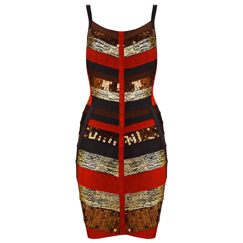 Cloverl Stacey Sequin Bandage Dress Free Global Shipping