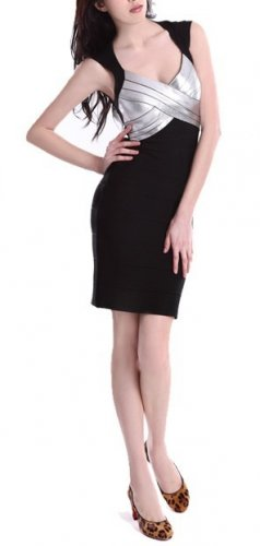 Cloverl Kaley Strapy bodycon Bandage Dress Free Global Shipping