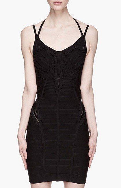 Cloverl Edy Little black Bandage Dress  Free Global Shipping