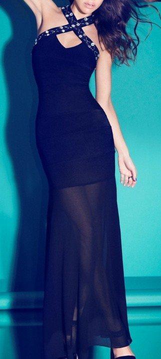 Cloverl Gabrielle Long Bandage Dress Free Global Shipping