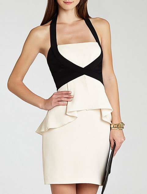 Cloverl Claire Halt Neck Bandage Dress Free Global Shipping