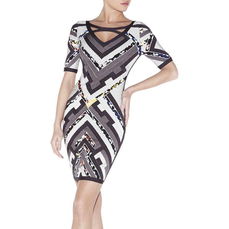 Cloverl Nina Mid Sleeve Bandage Dress Free Global Shipping