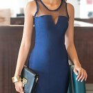 Cloverl Blair Blue Bandage Dress  Free Global Shipping
