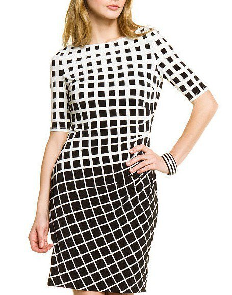 Cloverl Margaret Mid-Sleeve Bandage Dress Free Global Shipping