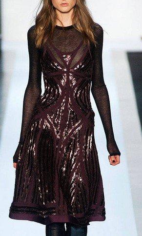 Cloverl Elise Sequin Long Sleeve Bandage Dress Free Global Shipping