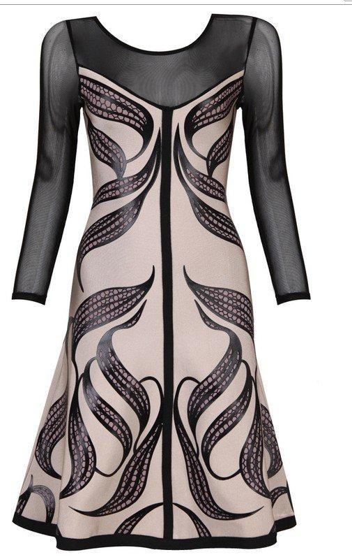 Cloverl Joanna Long Sleeve Bandage Dress Free Global Shipping