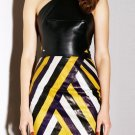 Cloverl Nina Halt Neck Leatherette Up Bandage Dress  Free Global Shipping
