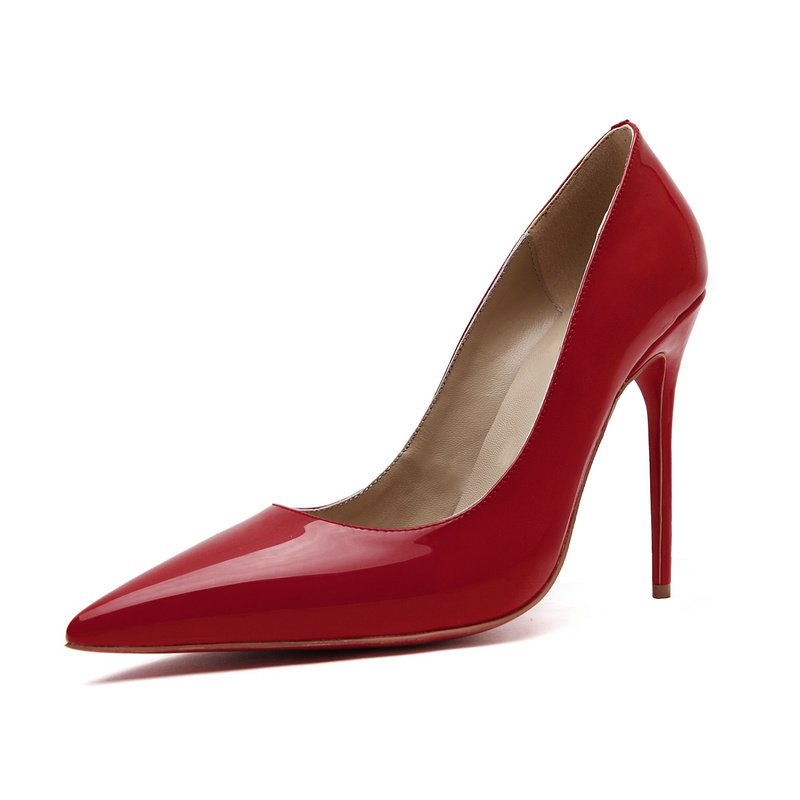 Cloverl Classic Jane Pump in Patent leather in Red
