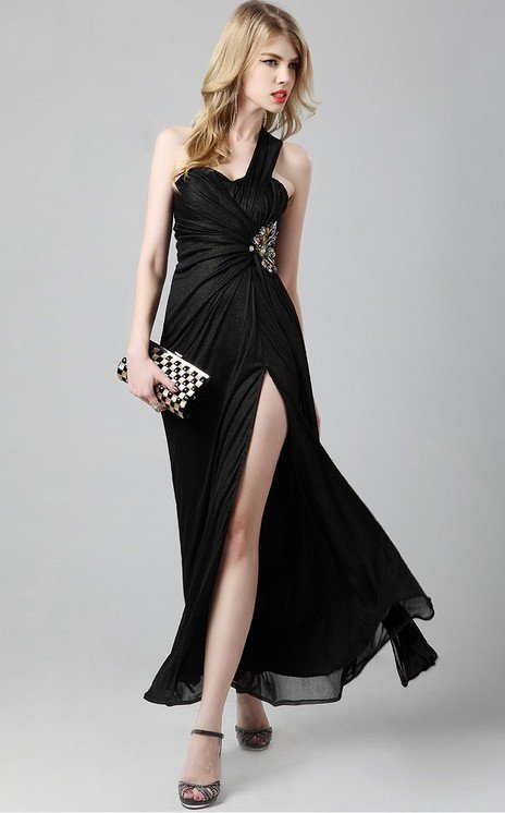Cloverl Jacqueline Evening Dress in black Free Global Shipping