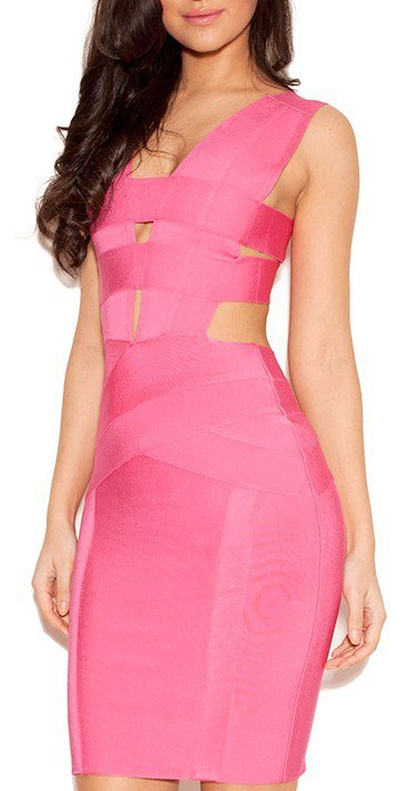 Cloverl Akeno Cut Out Bandage Dress, 2 colors in  Free Global Shipping