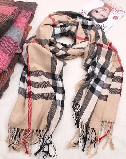 Cloverl Classic Plaid Artificial Cashmere Scarf Shawl 190*65 cm 7 colors in