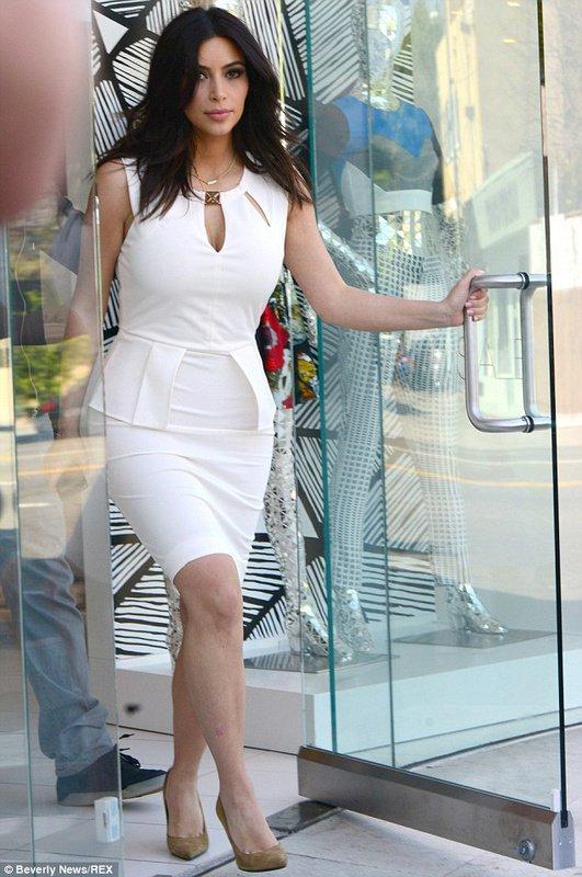 Cloverl Kim White Bandage Bodycon Dress Free global shipping