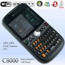 NEW UNLOCKED QWERTY C8000 DUAL SIM STAR WIFI TV 2.4 INCH HVGA TOUCH SCREEN MOBILE PHONE