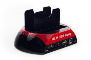 """All in one Dual bay HDD Docking Station for 2.5"""" 3.5"""" HDD SATA IDE card reader"""
