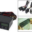 """5.25"""" LCD Media Dashboard SATA Hubs Card Reader Front Panel"""